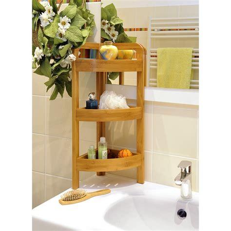 etagere salle de bain bambou chaios
