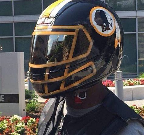 nfl themed motorcycle helmets  love  football