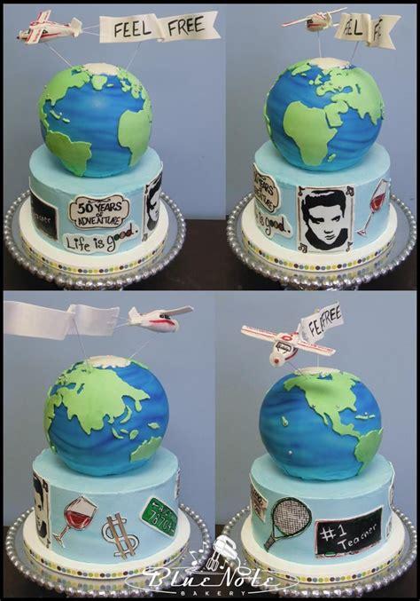 Around The World Birthday Cake Blue Note Bakery Austin