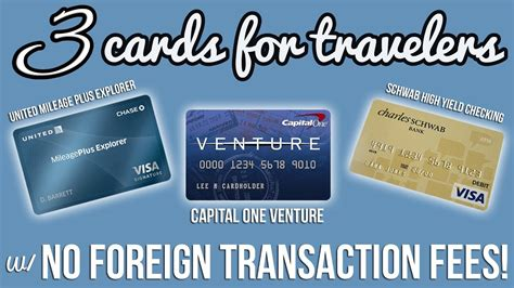 Credit sesame and credit karma give free credit scores from all three major credit bureaus (experian applying for credit cards with bonuses will also require that you get a credit check, which is a hard inquiry. THREE CARDS WITH NO FOREIGN TRANSACTION FEES! - YouTube