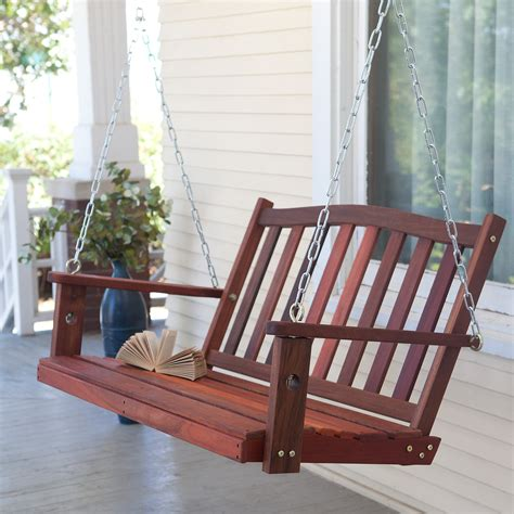 deck swing belham living richmond curve back porch swing with optional cushion porch swings at hayneedle