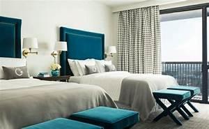 Chambre Gris Et Bleu : 1001 id es pour une chambre bleu canard p trole et paon ~ Melissatoandfro.com Idées de Décoration