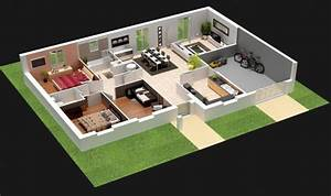 Plan Maison Une Chambre Un Salon