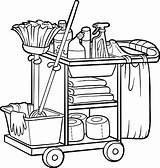 Custodian Cart Clipart Coloring Janitor Maid Vector Clip Illustrations Cliparts Clipground Vectors Graphics sketch template