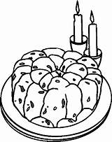 Cake Desserts Coloring Pages sketch template