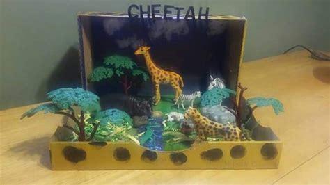 cheetah diorama grasslands habitats projects diorama