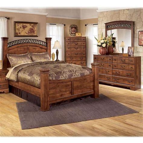 piece queen bedroom set  brown cherry nebraska