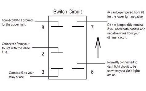 8 Terminal Rocker Switch Wiring Diagram by Quality Assurance Momentary Carling Lighted 5 Terminals 5