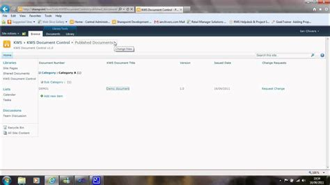 sharepoint document control youtube