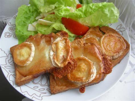 midi en recettes cuisine salade de chèvre chaud au miel