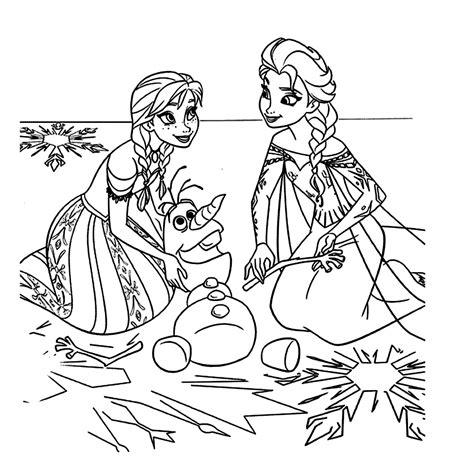 Prinsessen Kleurplaat Frozen by Leuk Voor Olaf De Sneeuwman En Elsa