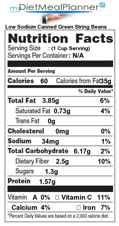 nutrition facts label beans legumes