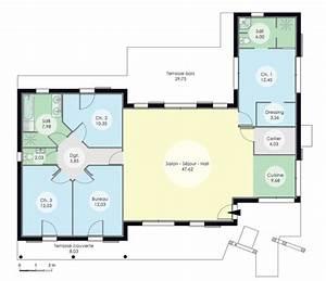 maison a l39architecture bioclimatique detail du plan de With plan de maison bioclimatique