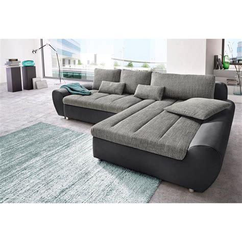 coloration canapé cuir canapé d 39 angle bi matière avec méridienne à droite ou