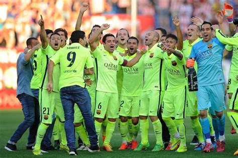 The fc barcelona is a club with many superlatives: FC Barcelona News: 18 May 2015; Barça Crowned 2014-2015 La ...