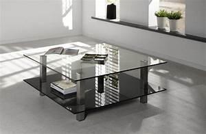 Table Basse Verre Design : careka table basse verre double plateaux design ~ Teatrodelosmanantiales.com Idées de Décoration