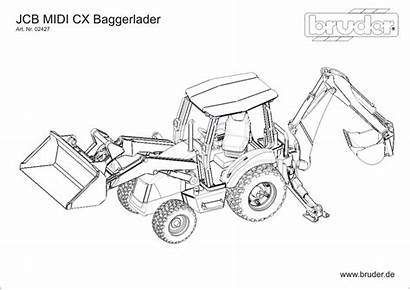 Coloring Pages Construction Equipment Heavy Truck Bruder