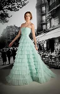 Light mint green wedding dress splash of colour for Mint dresses for wedding