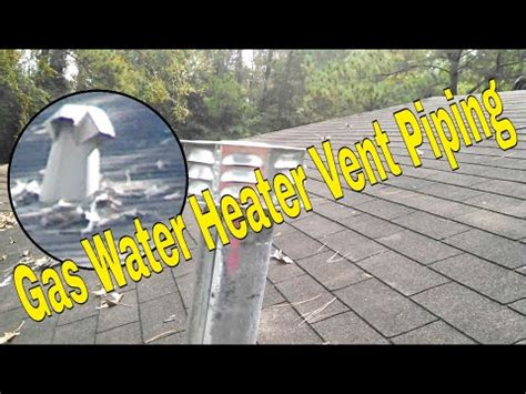gas water heater vent piping youtube