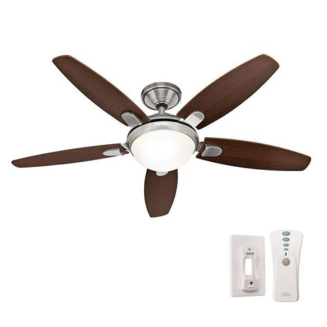 hunter universal ceiling fan remote hunter contempo 52 in indoor brushed nickel ceiling fan