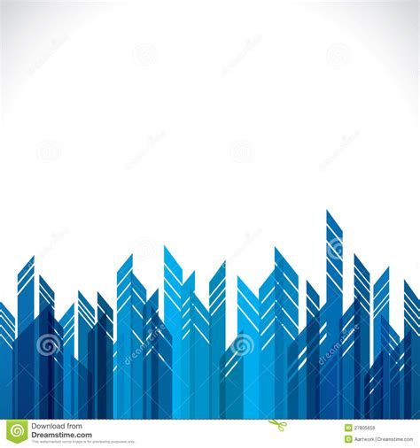 abstract blue city building stock vector image 27805659