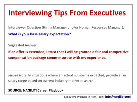Resume Expected Salary Negotiable by Interviewing Tips From Executives Salary Expectations