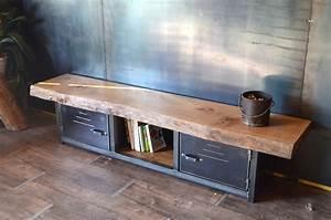 Meuble Tv Bois Design : meuble tv de style industriel micheli design ~ Preciouscoupons.com Idées de Décoration