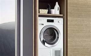 Waschmaschine In Der Küche : blaue k che mit grauer wandfarbe ideen bilder von leicht k chenfinder magazin ~ Markanthonyermac.com Haus und Dekorationen