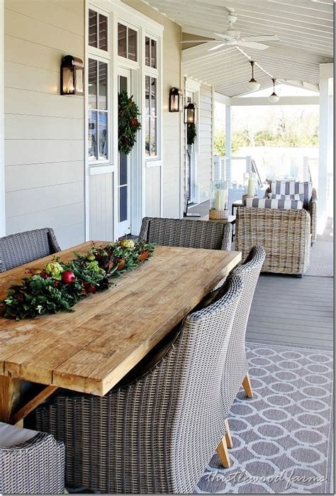Front Porch Table by Southern Style Decorating Ideas From Southern Living