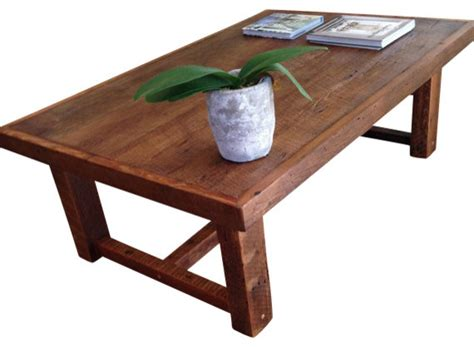 large rustic pi coffee table made from reclaimed new