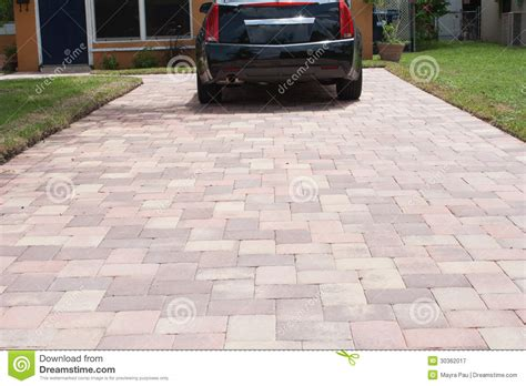 pavers for parking royalty free stock photography image