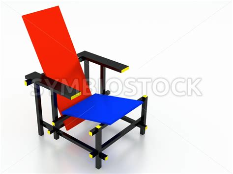 rietveld and blue chair jan brons stock images