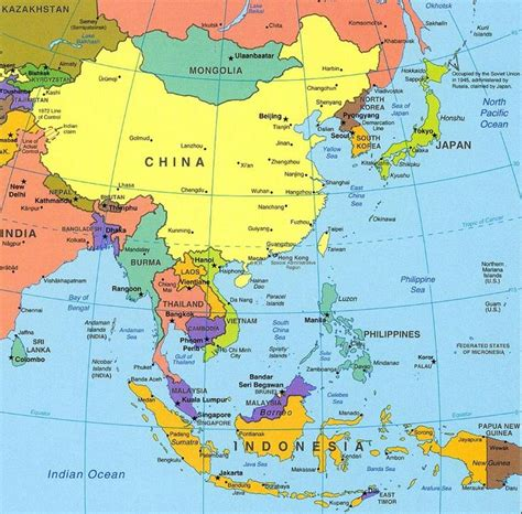 map  asia ideas  pinterest south asia map