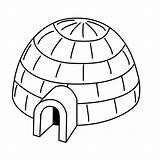 Igloo Coloring Pages Drawing Printable Various Colour Drawings Eskimo Gifs sketch template