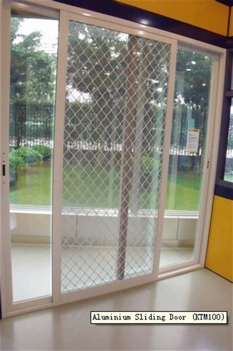 china aluminium sliding door with fly screen ktm100