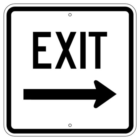 exit  arrow traffic sign