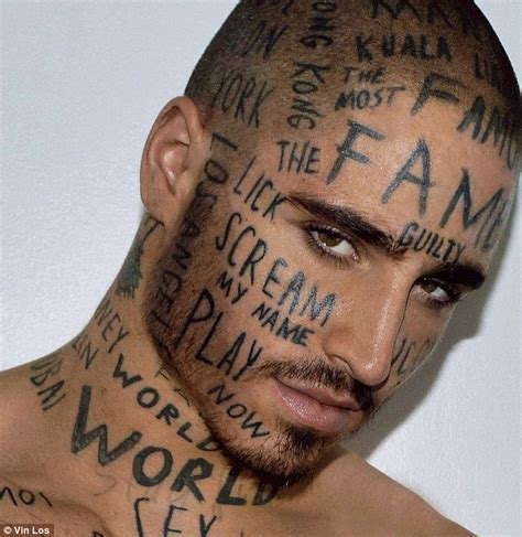 Tattoo Much? The Words On This Model's Face May Look Like