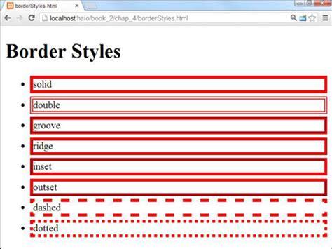 add borders  html  css programming dummies