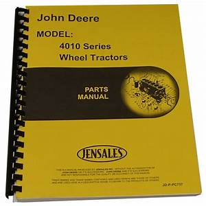 Parts Manual For John Deere 4010 Tractor