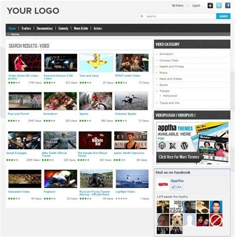 joomla video  video  theme video gallery template