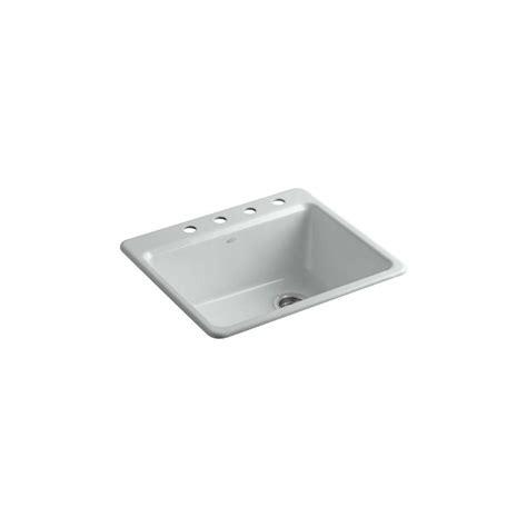 kohler riverby sink rack kohler riverby drop in cast iron 25 in 4 single