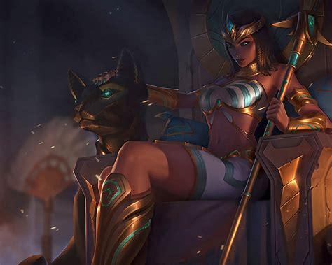 league  legends pharaoh nidalee splash art wallpaper hd