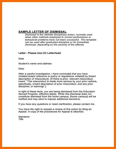 appeal letter  dismissal sampletemplatess