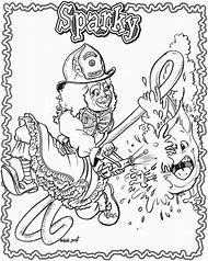 Sparky Fire Dog Coloring Page