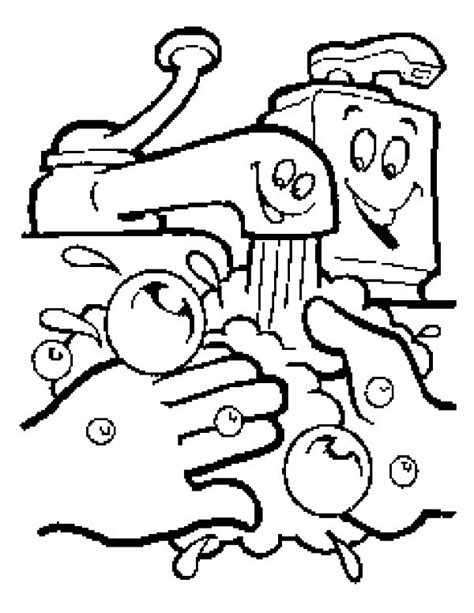 Hand Washing Coloring Pages Bestofcoloringcom