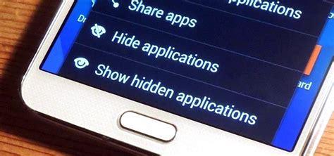 hide apps    samsung galaxy  edge