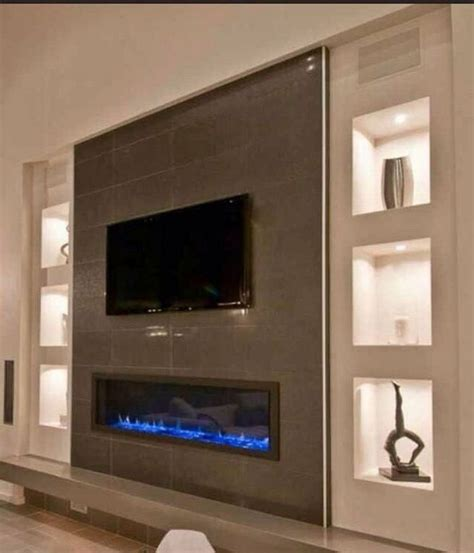 impressive living room ideas  fireplace  tv