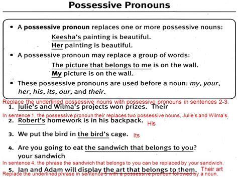 Possessive Pronouns Lesson Ppt Video Online Download
