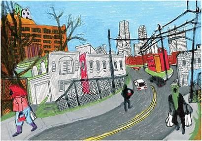 Pittsburgh Ghetto America Dream Drawing Isn