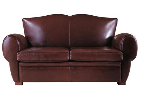 acheter votre canap 233 club 2 places en cuir marron chez simeuble